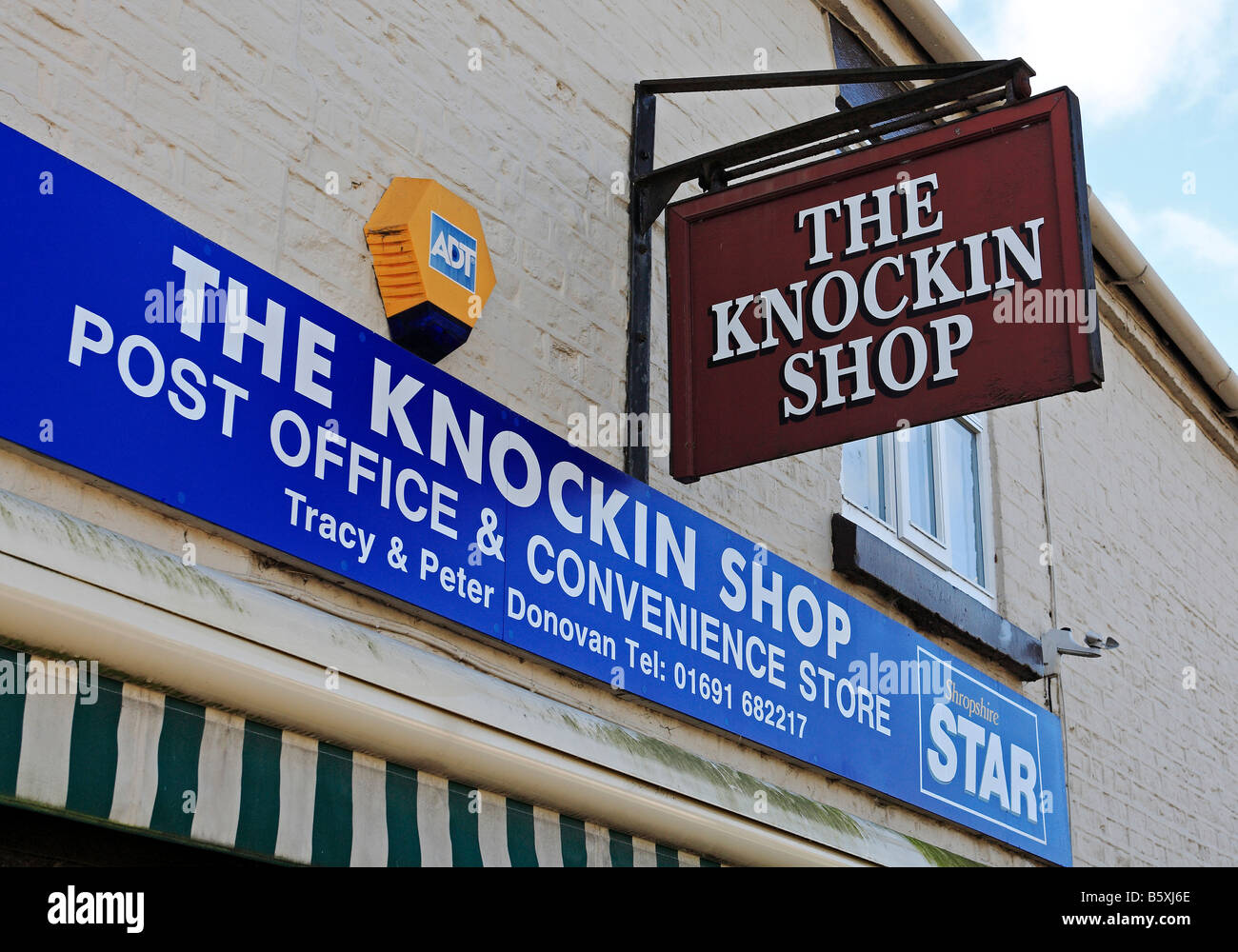 1299 Village Shop Knockin Shropshire UK Stock Photo