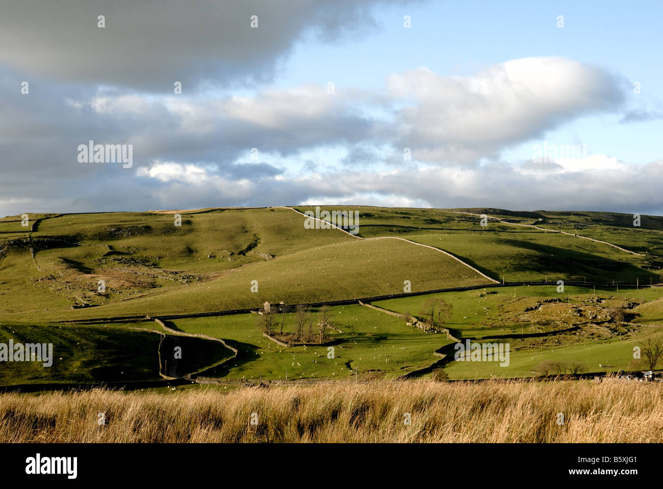 Yorkshire moorlands near Horton in Ribblesdale - Stock Image