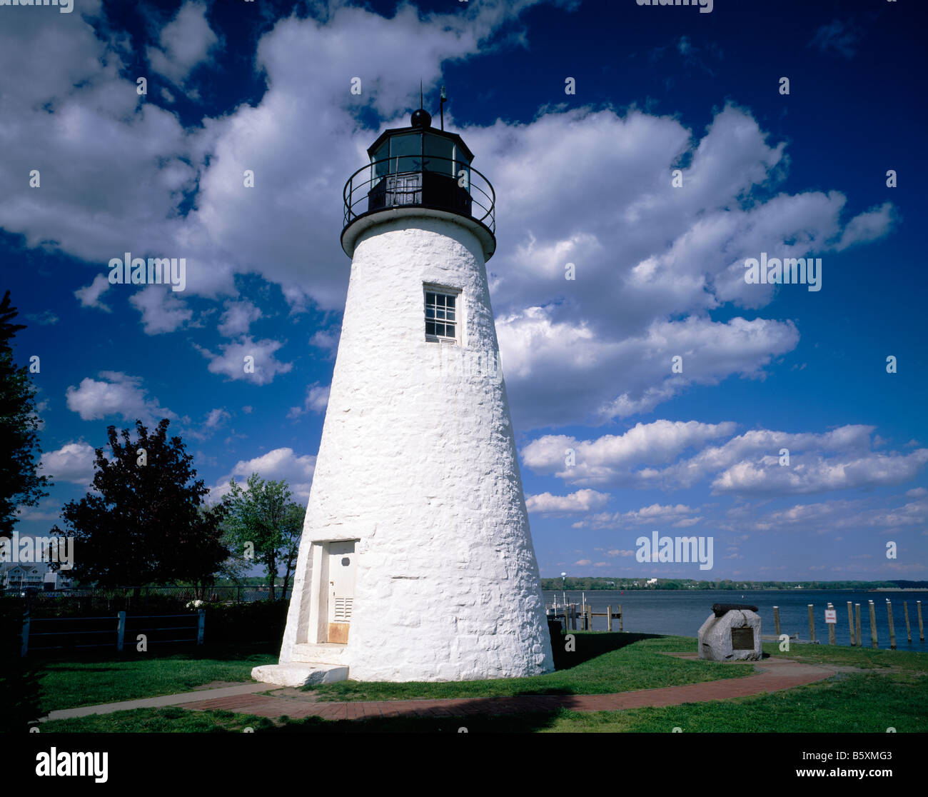 Concord Lighthouse Chesapeake Bay Town of Havre De Grace Maryland - Stock Image