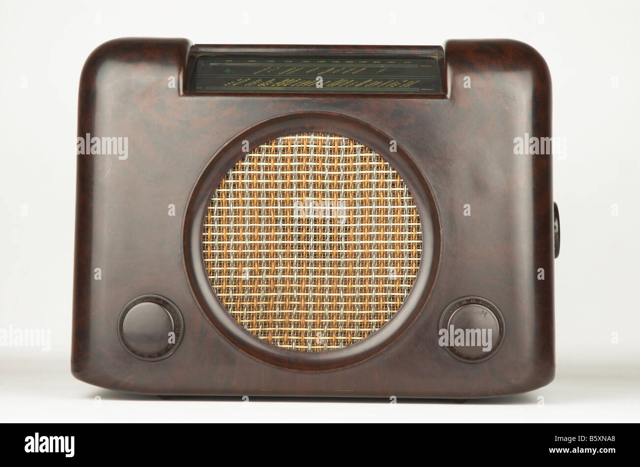 Antique Bakelite Bush DAC90 brown radio 1940's - Stock Image
