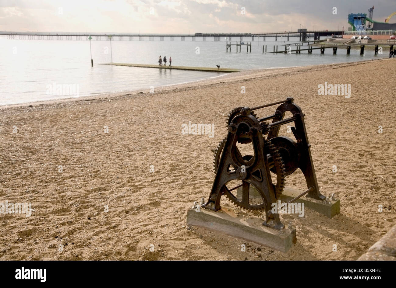 Beach at Southend on Sea Essex - Stock Image