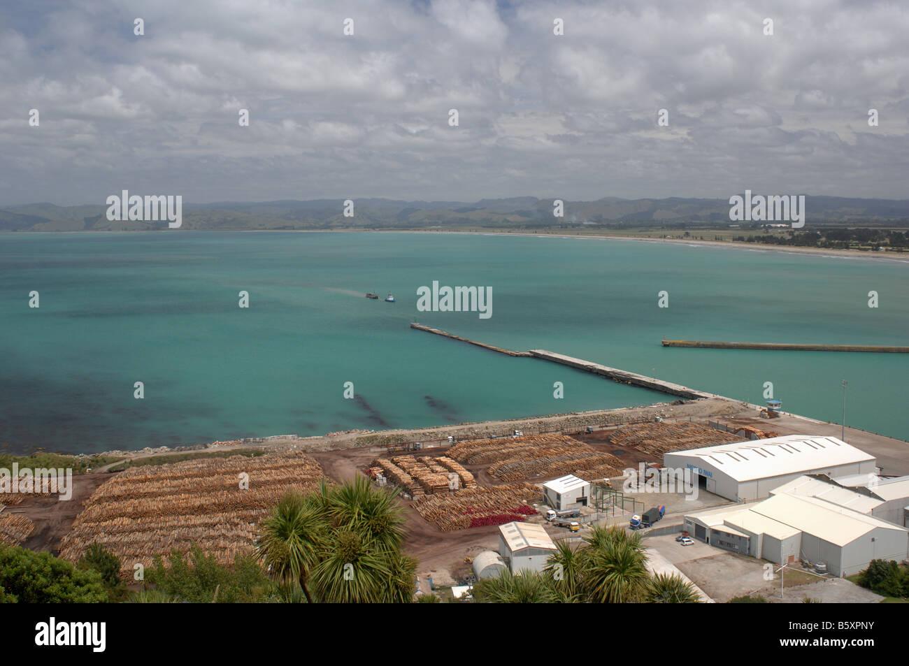 Gisborne Harbour - Stock Image