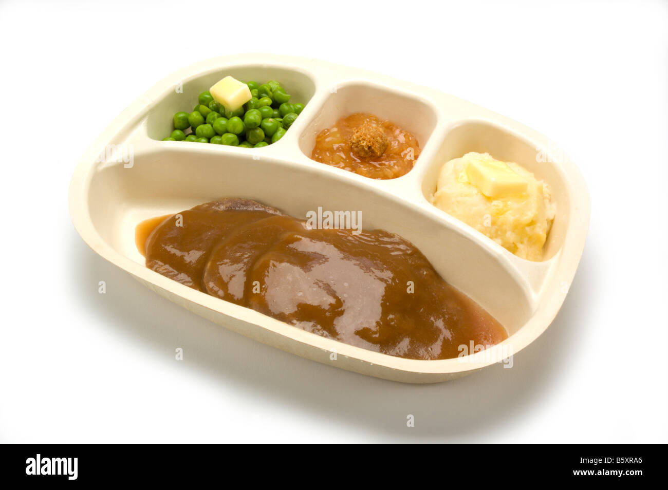 TV dinner in plastic tray - Stock Image