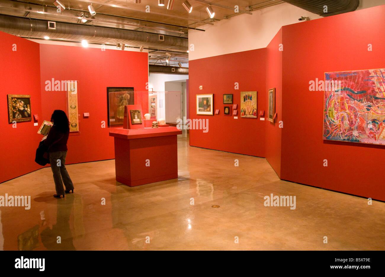 San Antonio's Museo Alameda del Smithsonian, features Latin American art, first floor gallery - Stock Image