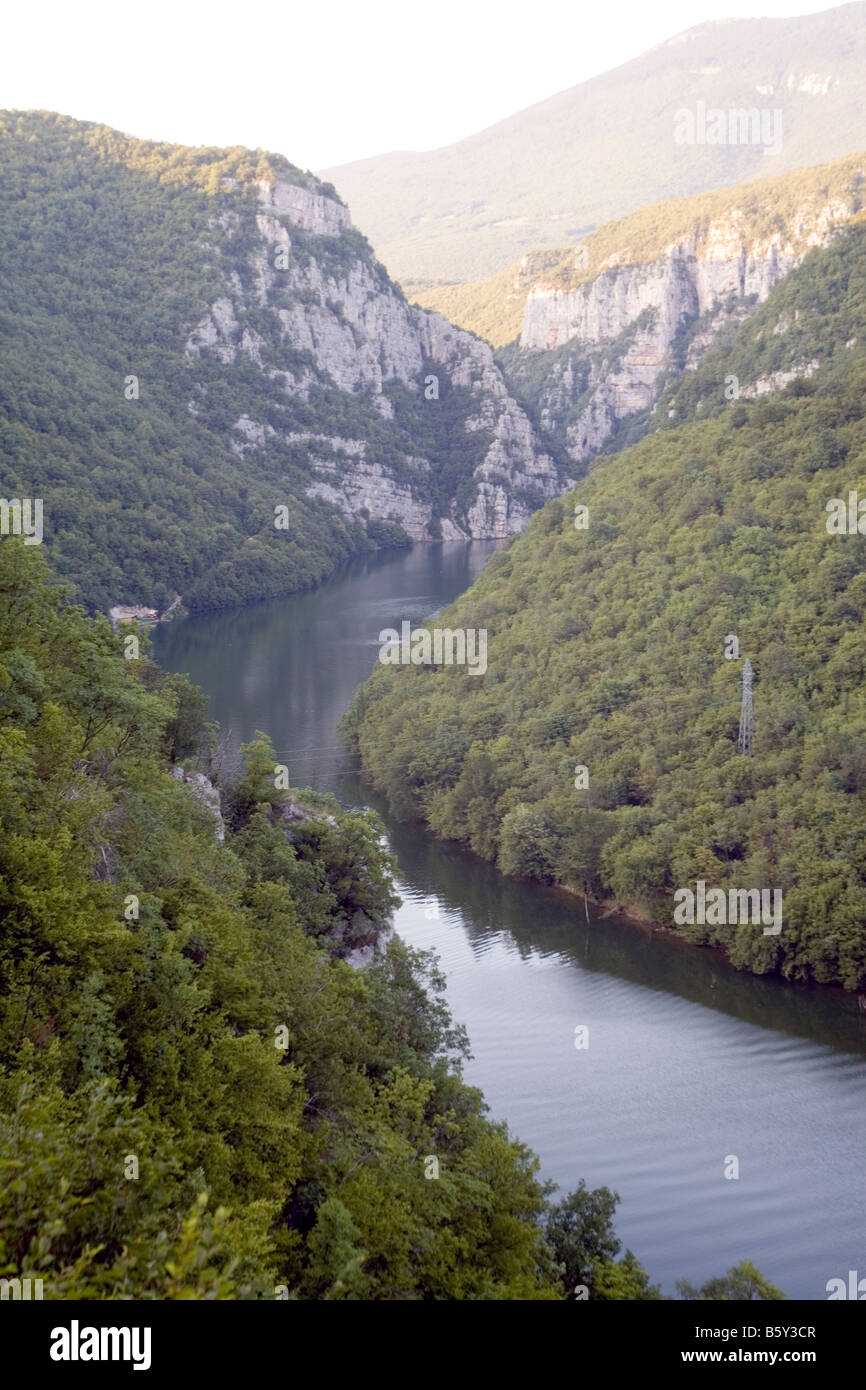 Artificial Lake Bocac view from the road Banja Luka Jajce Bosnia and Herzegovina - Stock Image