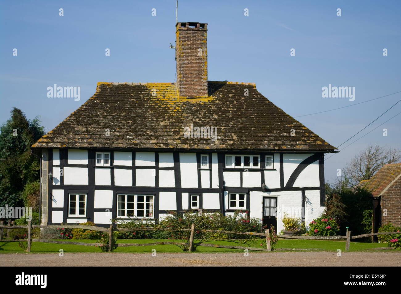 Edmunds country detached tudor style Farmhouse Ardingly West Sussex - Stock Image