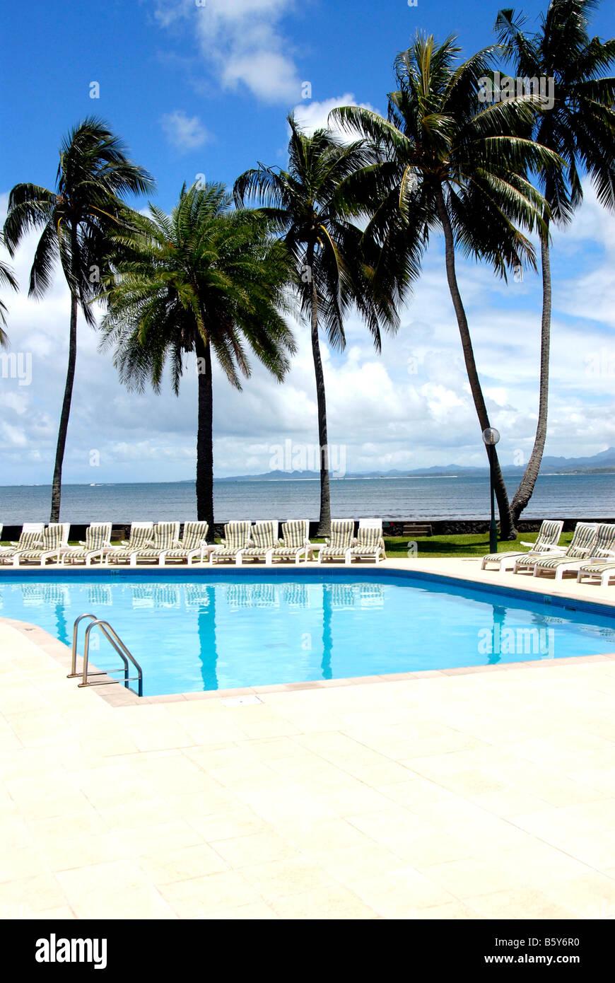 Swimming Pool Hotel Holiday Inn Suva Fiji Stock Photo Alamy