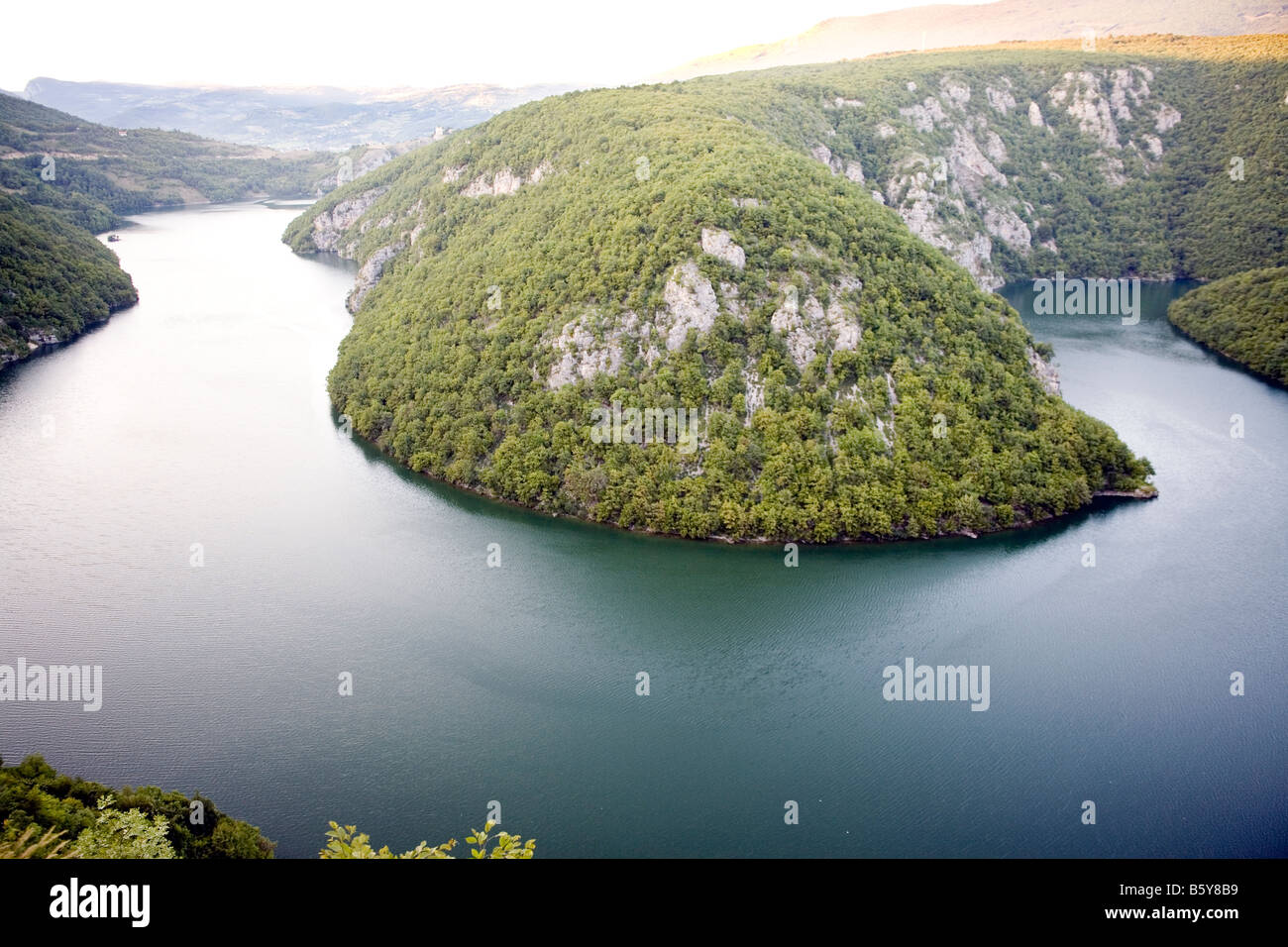 Artificial Lake Bocac  view from the road BanjaLuka Jajce Bosnia and Herzegovina Stock Photo