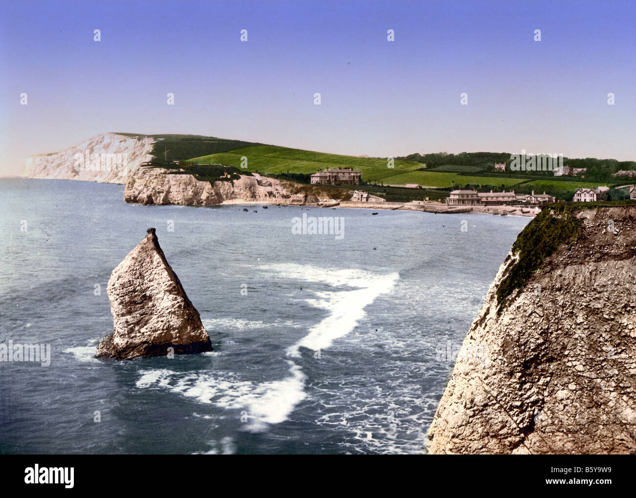 Stag Rock, Isle of Wight, England - Stock Image