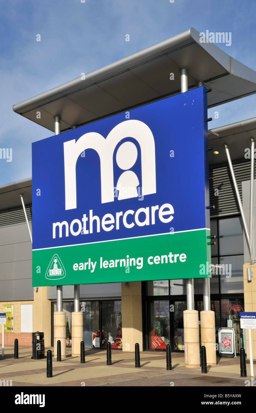 West Thurrock Lakeside retail park  Mothercare store and  Early Learning Centre entrance - Stock Image