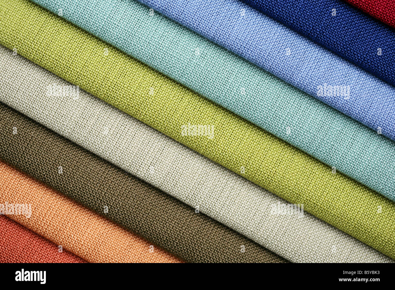 fabric in shop - Stock Image