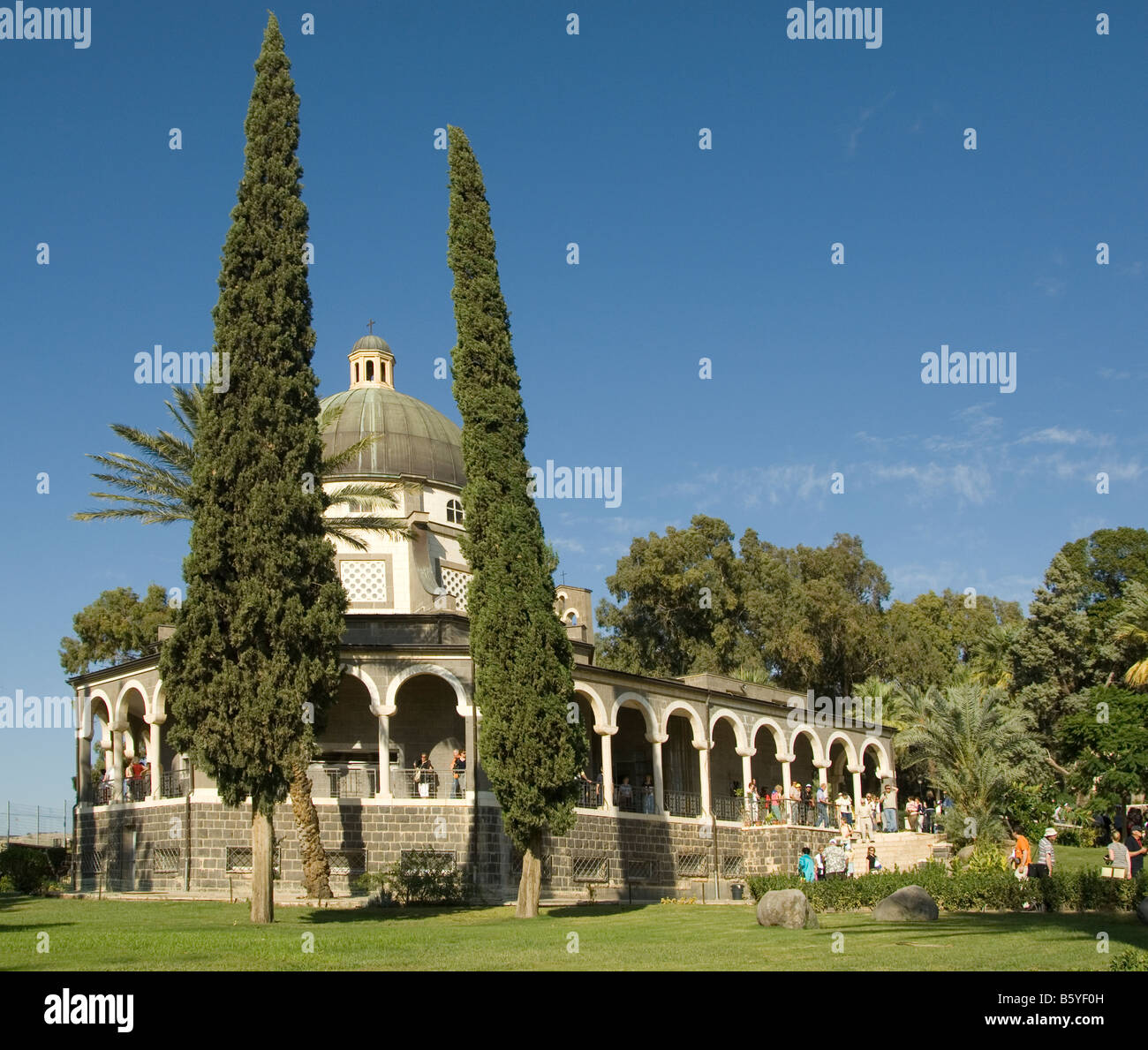 The Church at the  Mount of Beatitudes Stock Photo