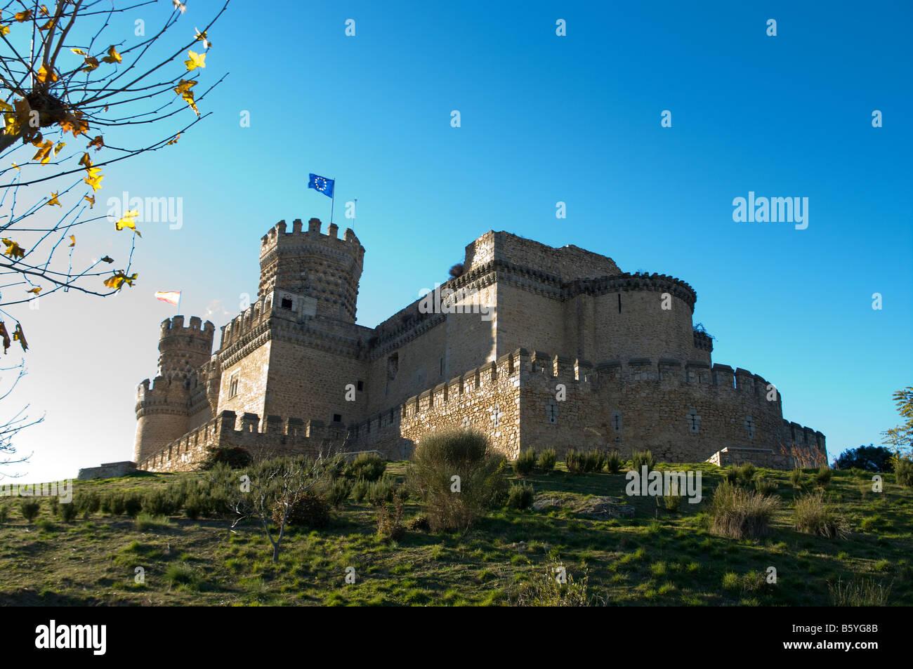 Manzanares el Real Castle Castillo de Manzanares el Real  Restored15th century Castle Madrid Spain España UE Stock Photo