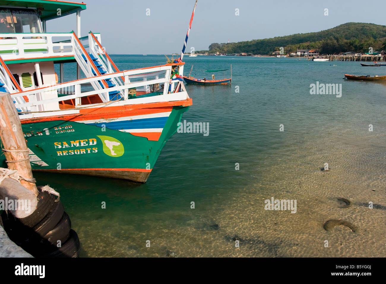 Thailand Koh Samet Sa Med boat - Stock Image