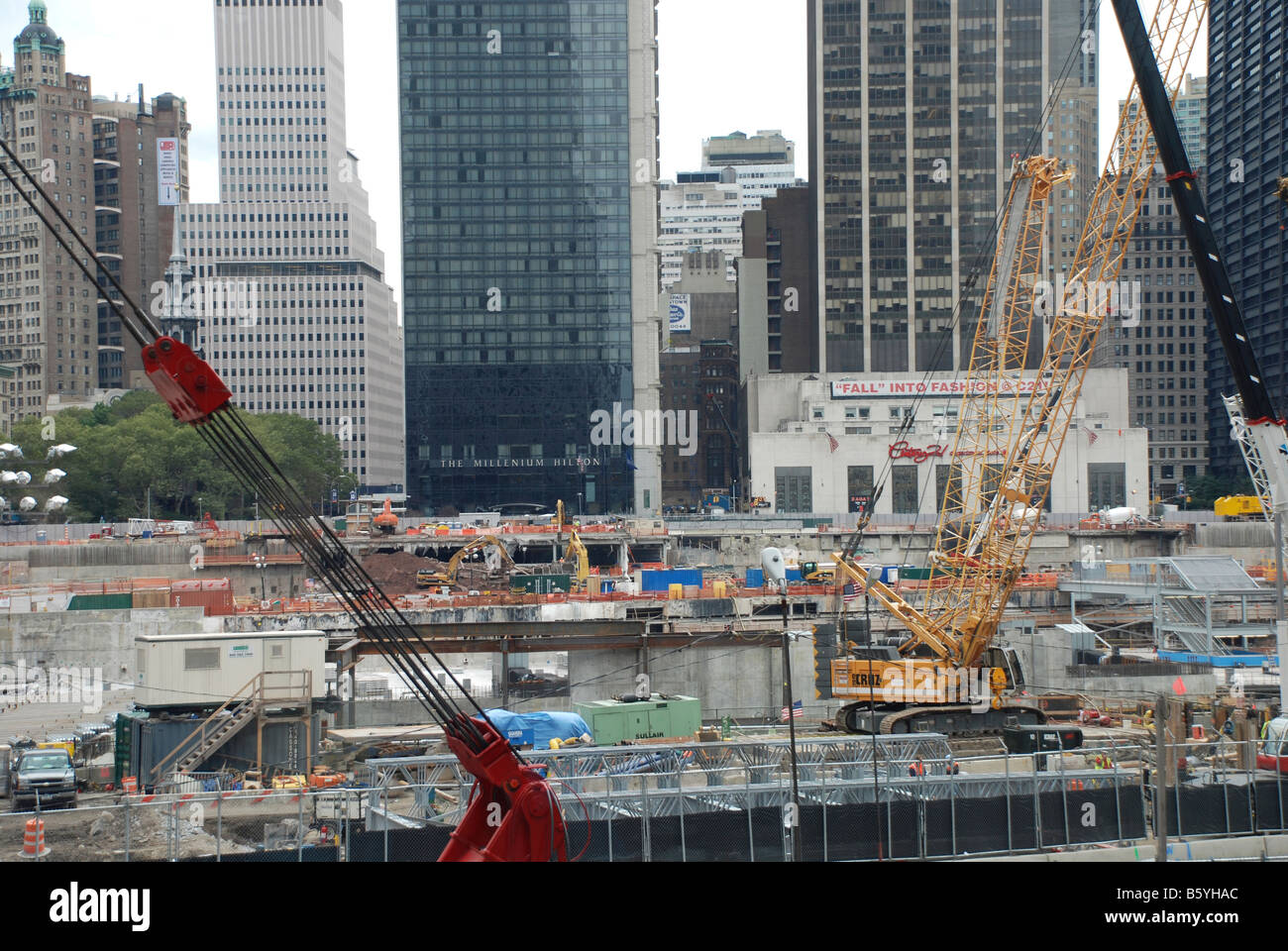 Ground Zero New York construction site for the Peace Tower - Stock Image