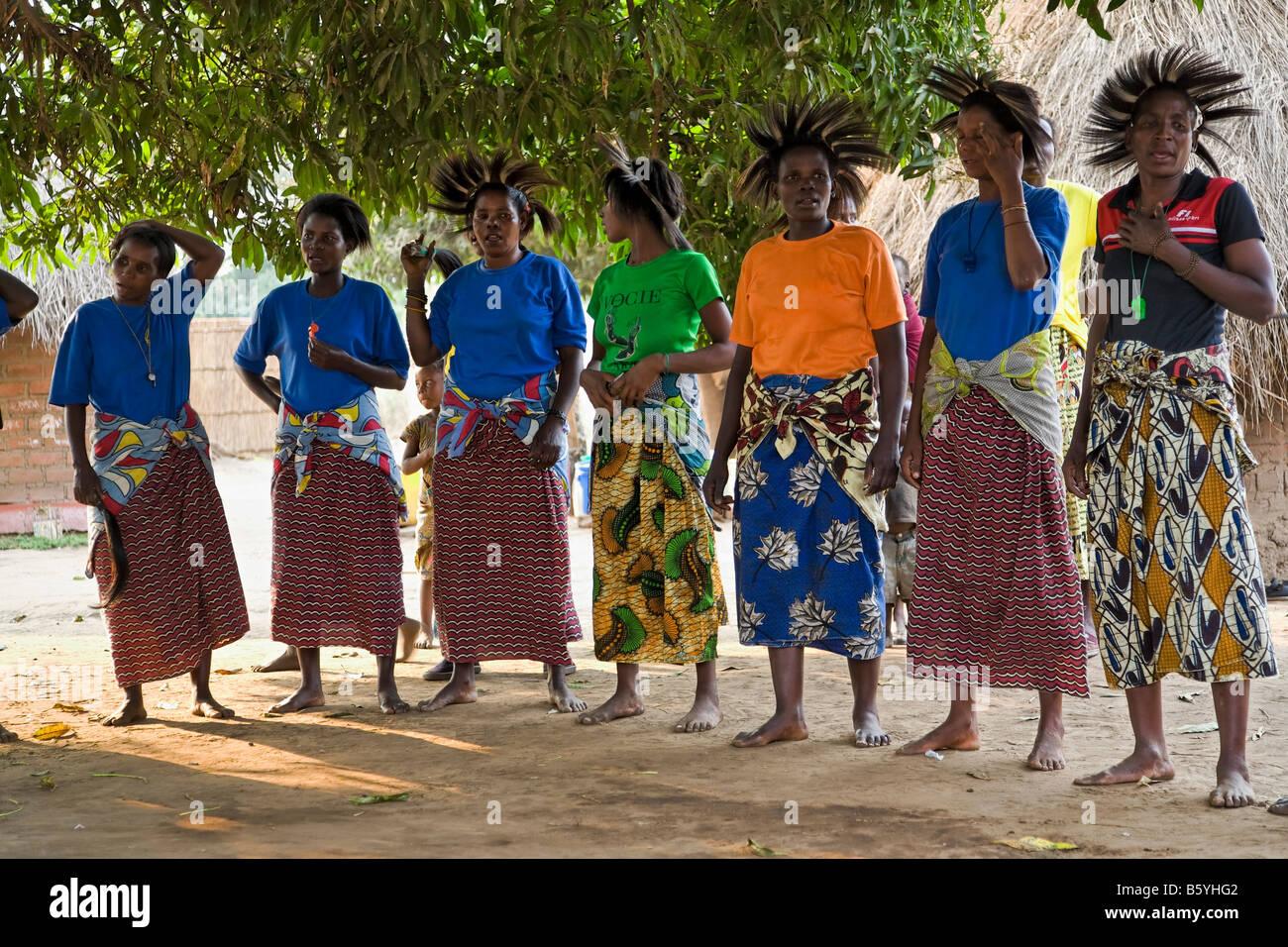 Dancers at Kawaza Village in Zambia - Stock Image