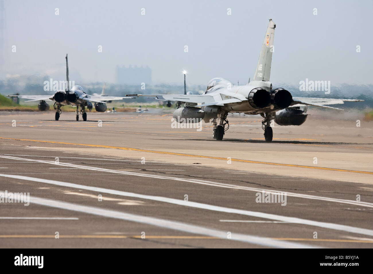 Jet Fighters Taxiing - Stock Image