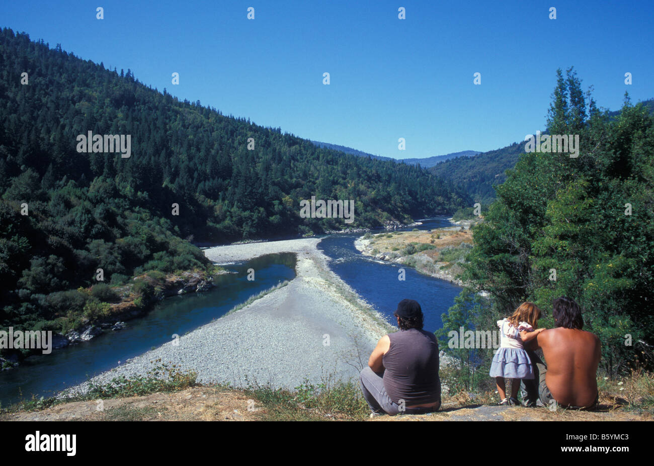 Indians, Hoopa Indian Tribe Reservation, Hoopa Valley, California, America, USA - Stock Image