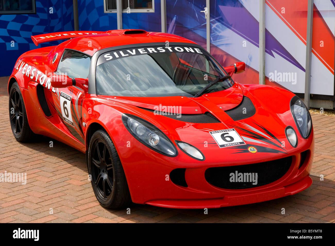 Lotus Elise at Silverstone Race Track - Stock Image