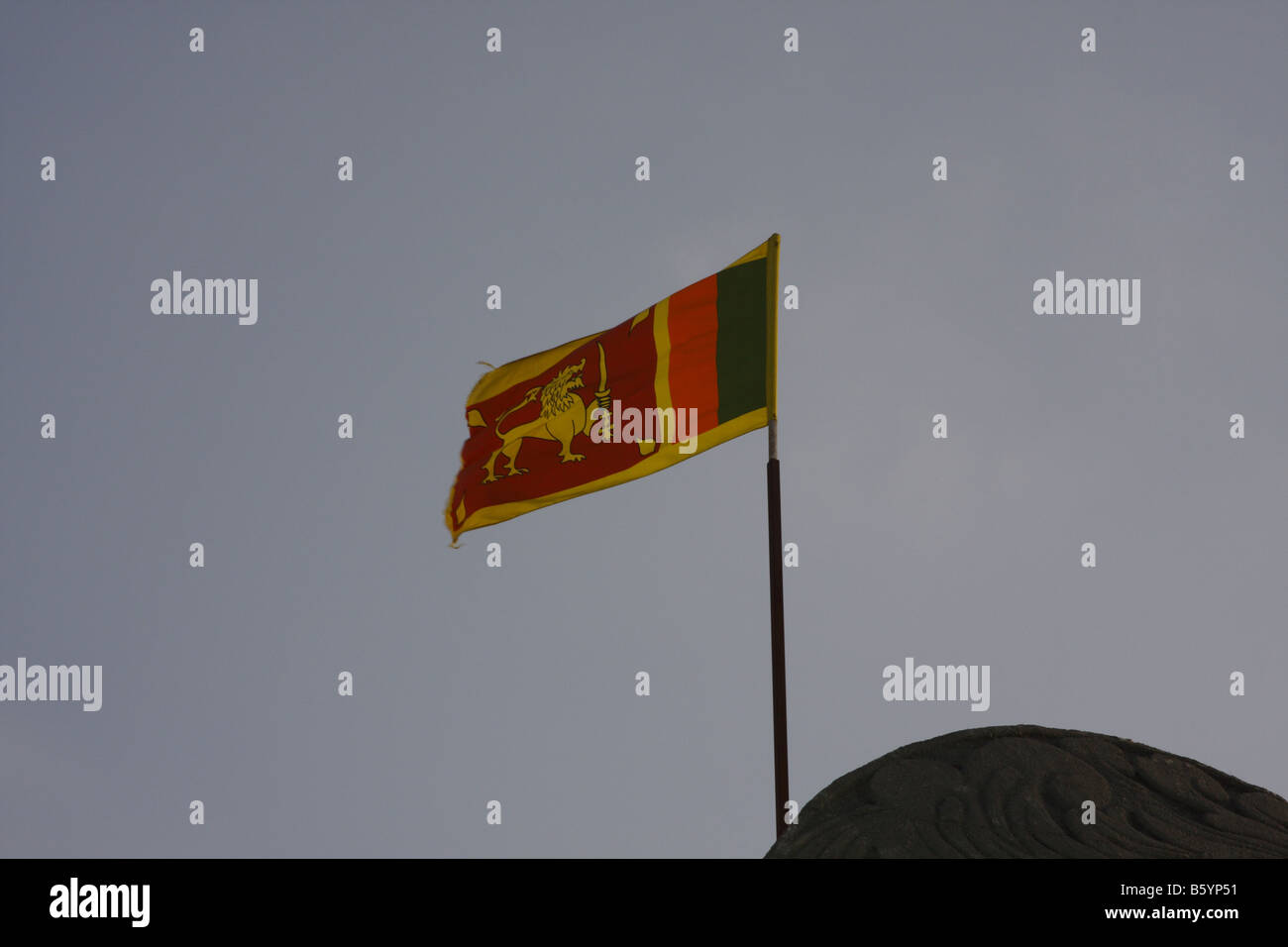 NATIONAL FLAG OF SRILANKA - Stock Image