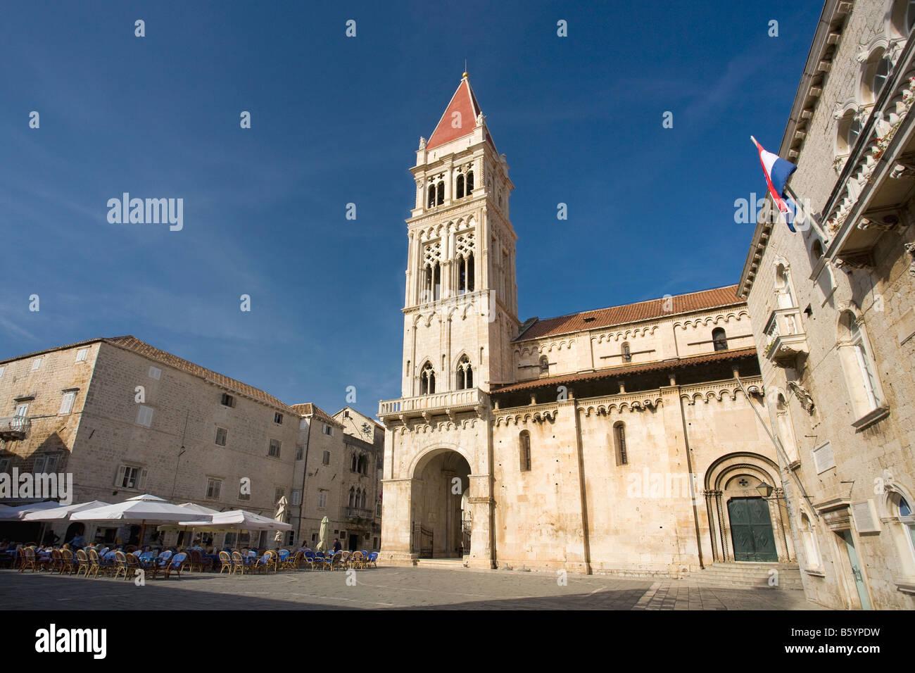 Cathedral of St Lawrence 13th century Trogir Dalmatian Coast Croatia Dalmatia - Stock Image