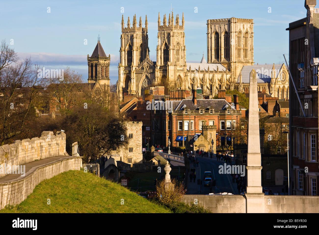 York Minster Yorkshire England - Stock Image