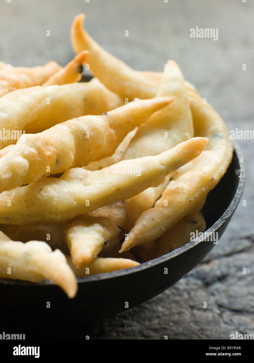 Dish of Nimki Stock Photo