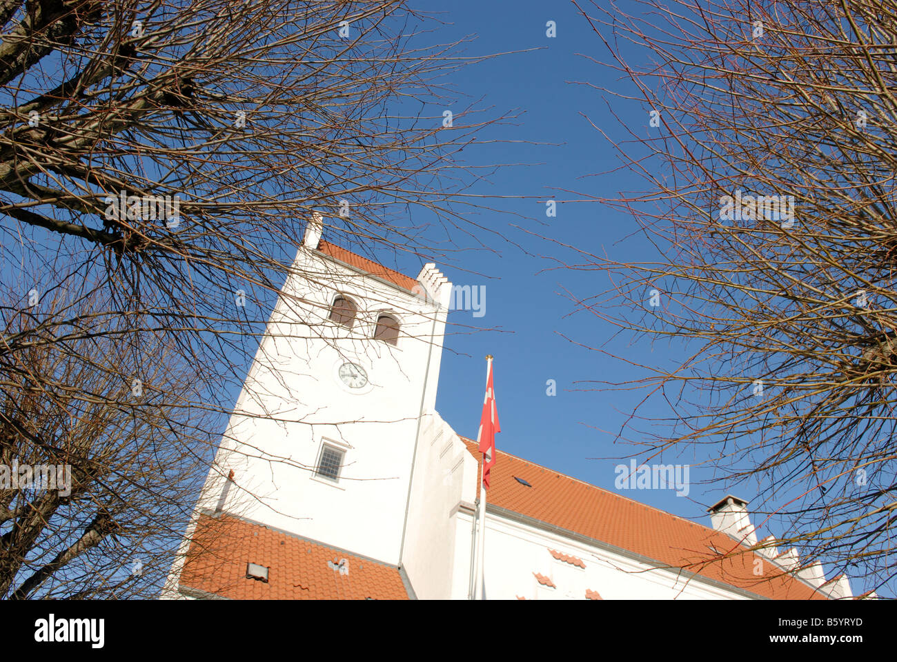 CHURCH IN DENMARK - Stock Image