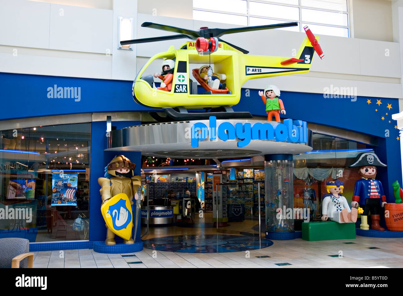 Playmobil store frontage - Stock Image