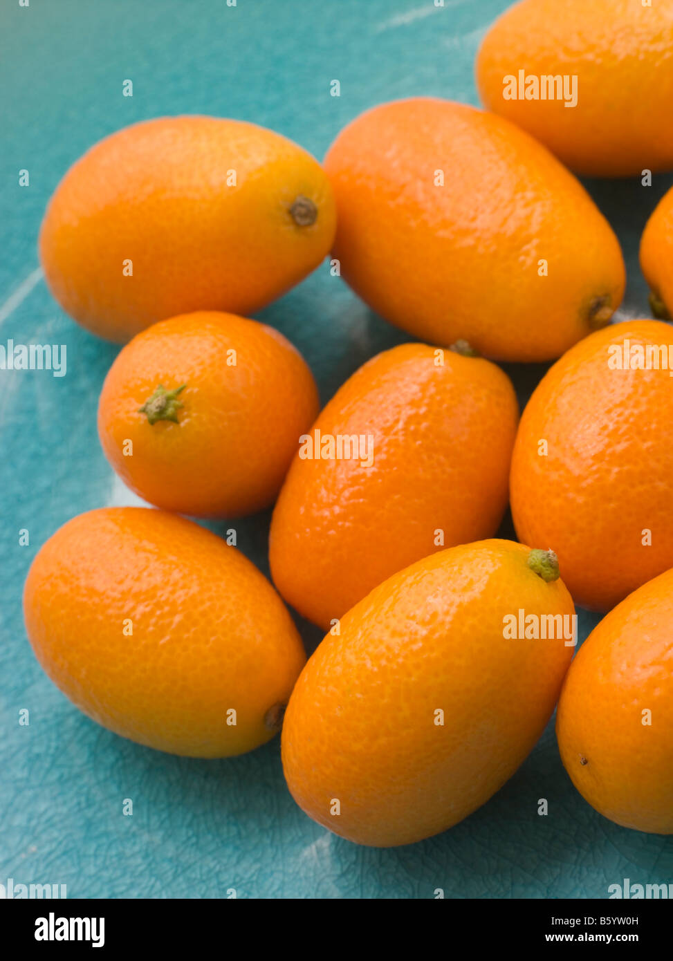 Dish Of Fresh Kumquat - Stock Image