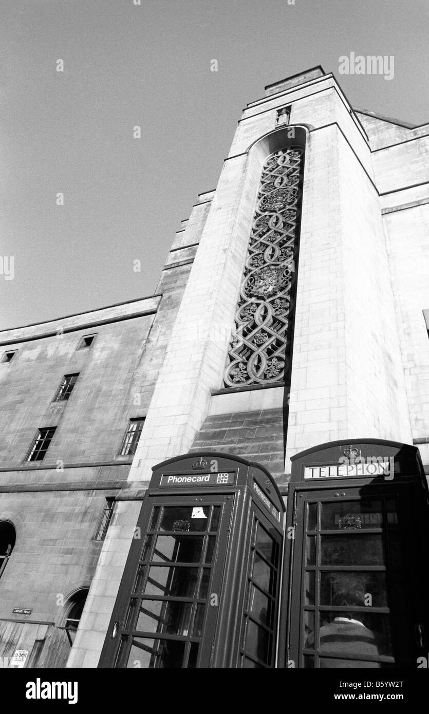 UK England Manchester Saint Peters Square K6 phone box - Stock Image