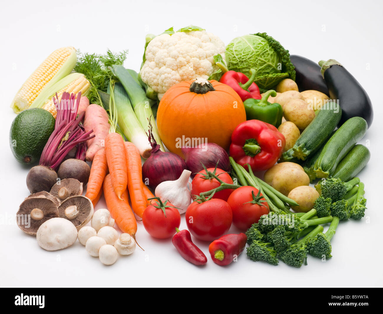 Selection Of Fresh Vegetables - Stock Image