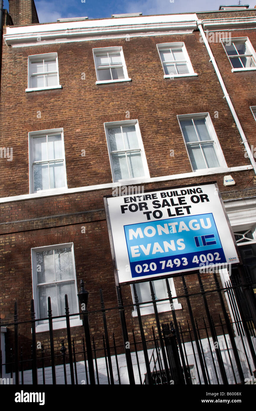 Entire Building for sale or to let in London Borough of Camden GB UK - Stock Image