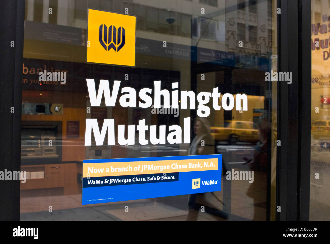 A Washington Mutual branch is seen in New York, New York. - Stock Image