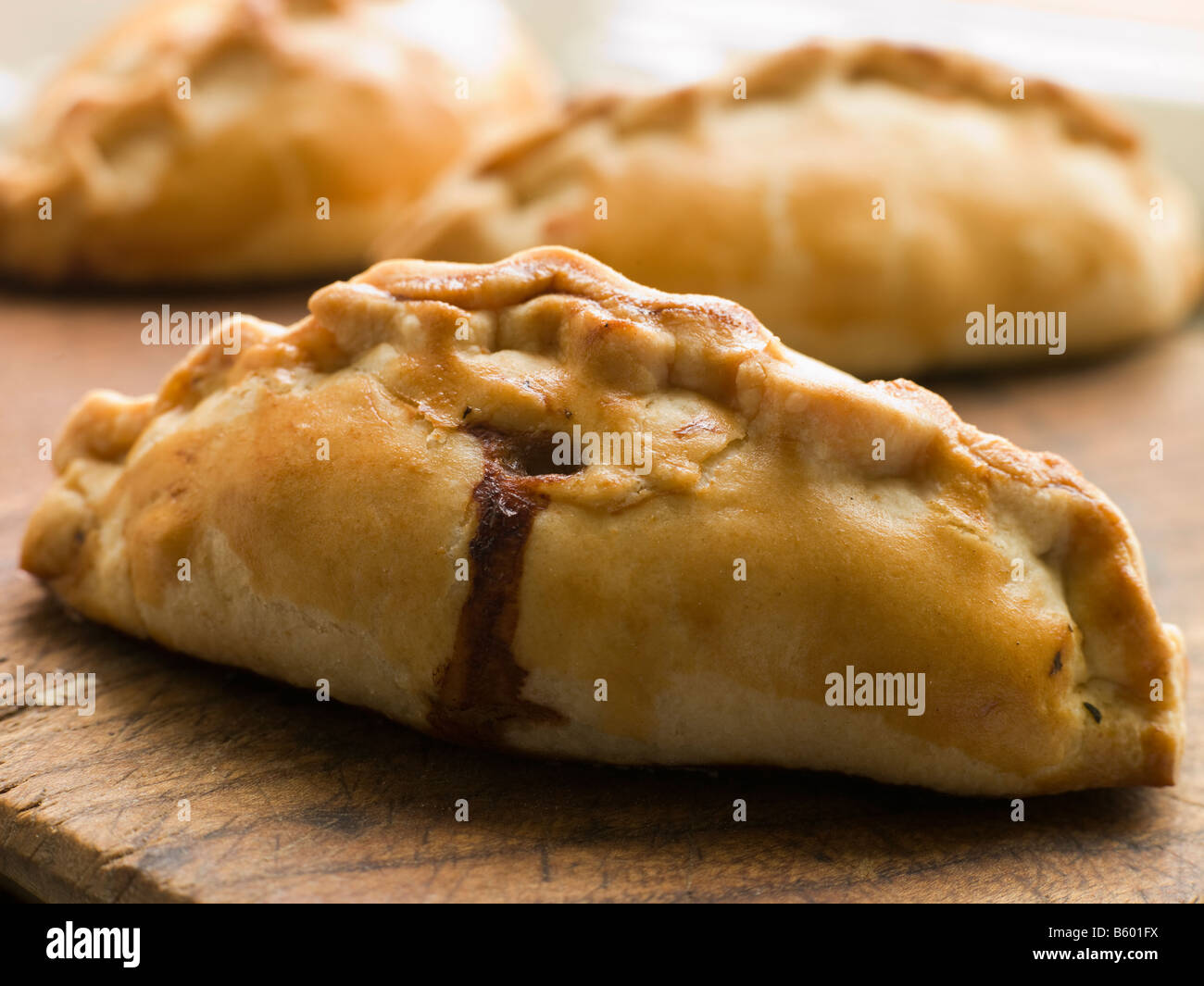 Traditional Cornish Pasties - Stock Image