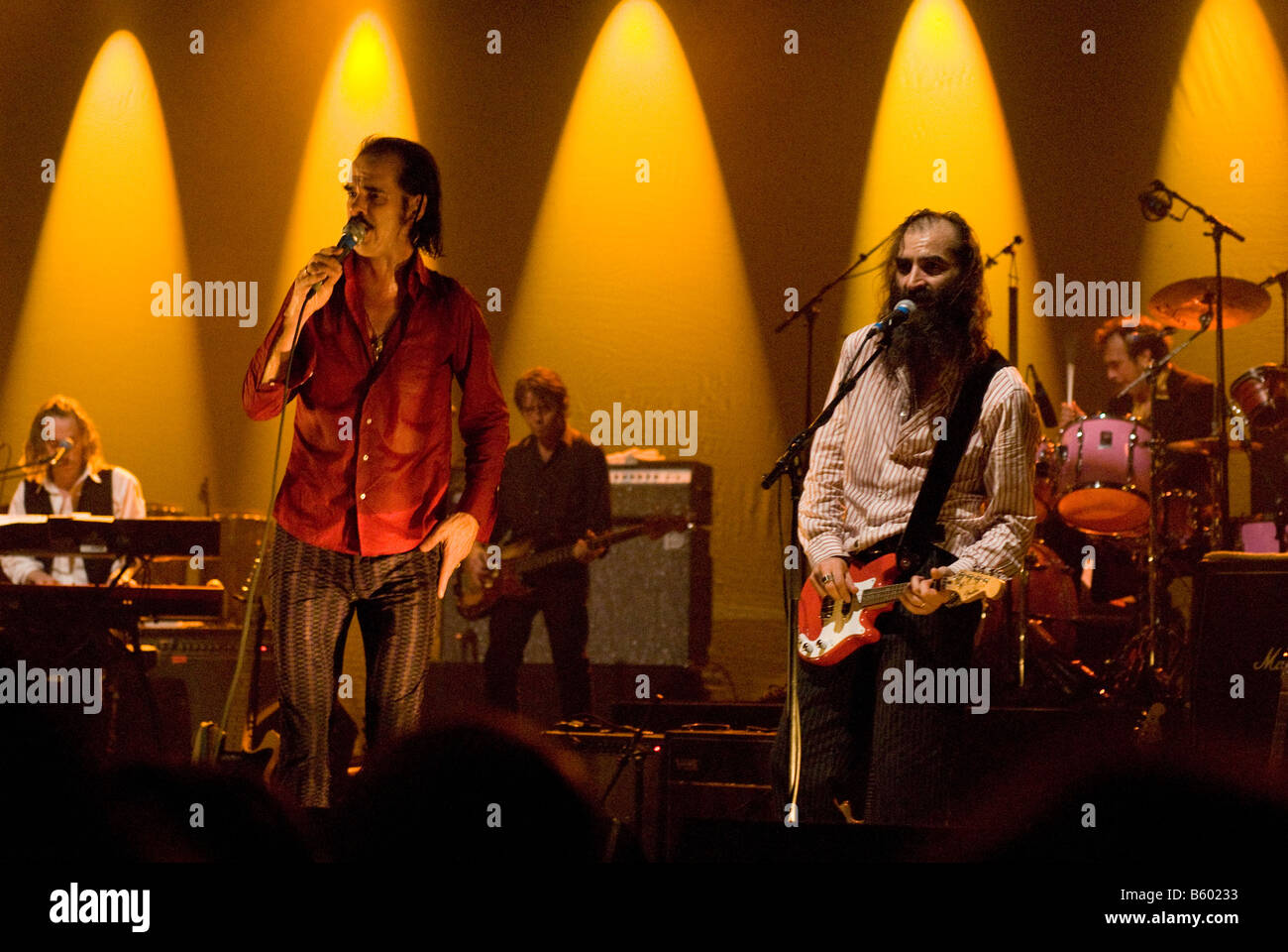Nick Cave and Warren Ellis, Nick Cave and the Bad Seeds, Rome, Italy, 2008 - Stock Image
