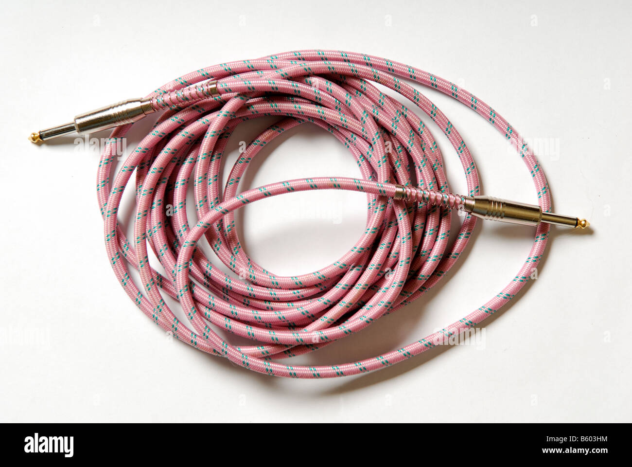 Guitar Cable Stock Photos Images Alamy Jack Wiring 1 4 Lead Image