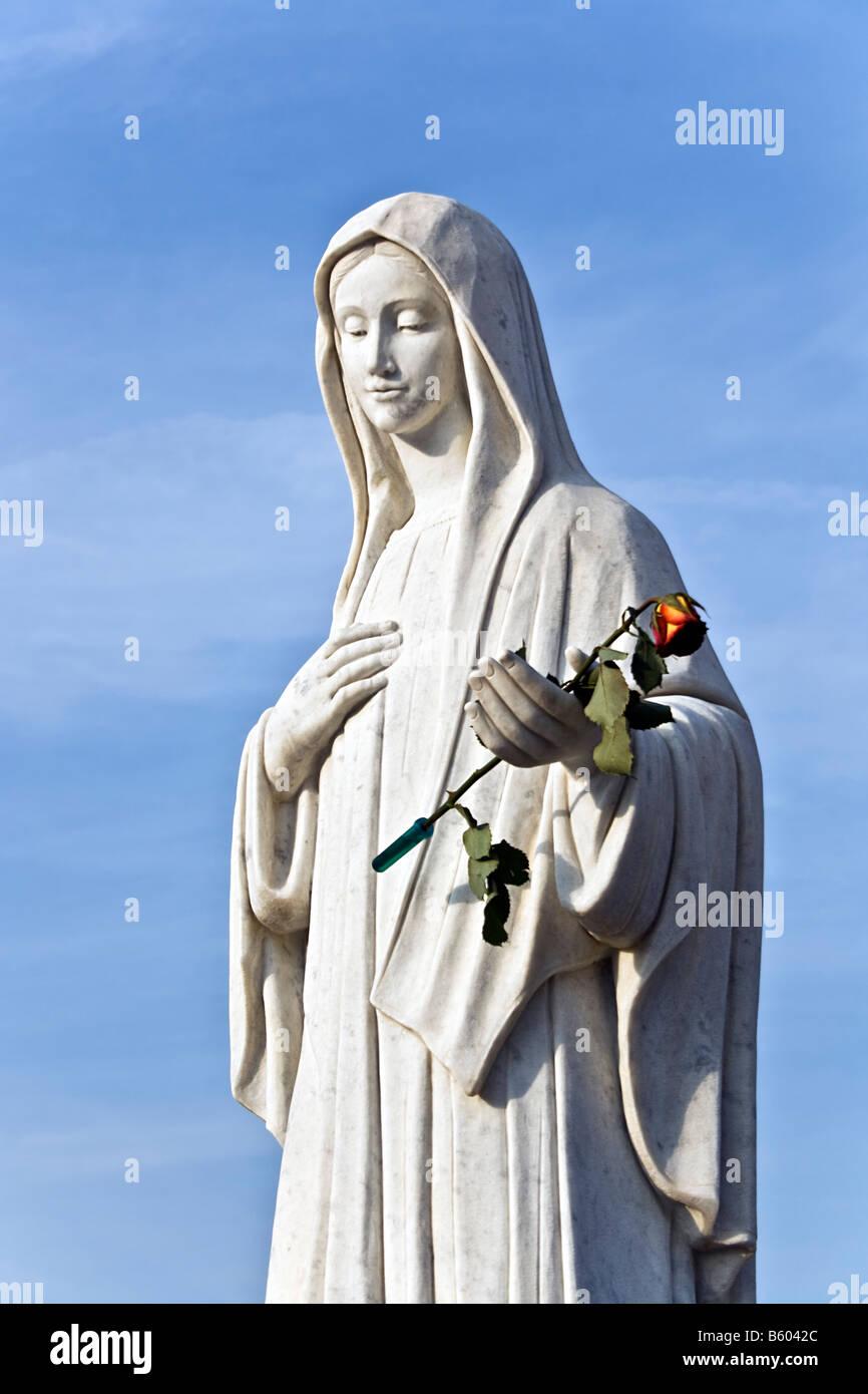 BOSNIA & HERZEGOVINA, Medugorje. Blessed Virgin Mary statue in the sanctuary Medjugorje , Bosnia & Herzegovina, Stock Photo