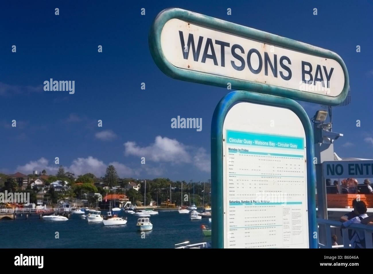 SYDNEY WATSONS BAY - Stock Image