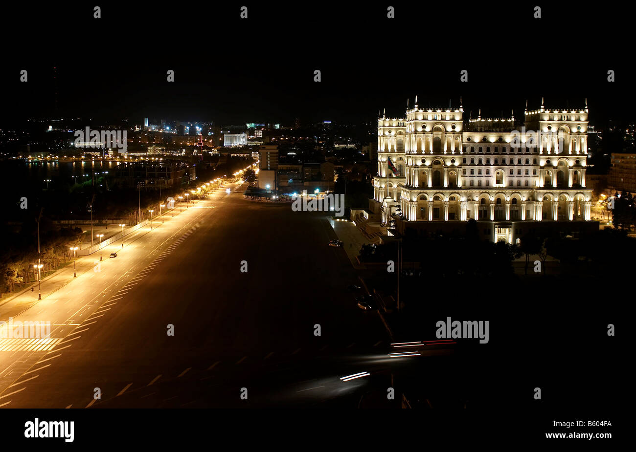 Government s house at freedom square. Baku, Azerbaijan. - Stock Image