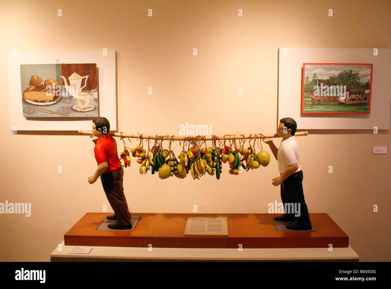 Contemporary folk art in the Museo de Arte Popular or Museum of Popular Art in San Salvador, El Salvador - Stock Image