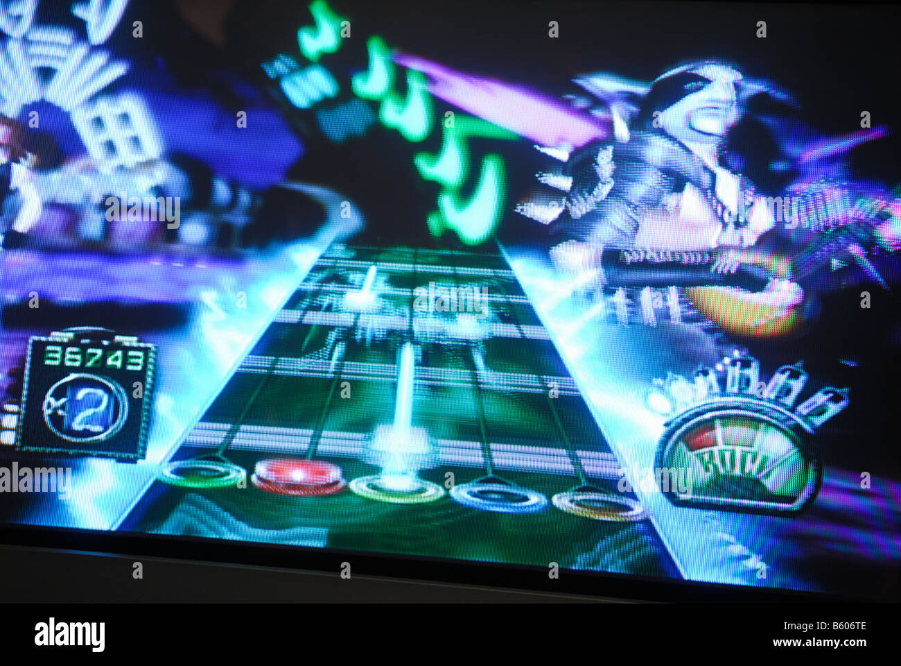 Guitar Hero Wii Game Nintendo. - Stock Image