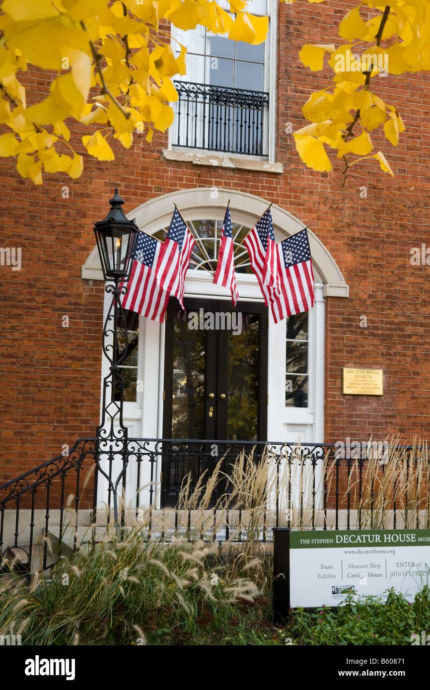 Stephen Decatur House Museum Washington D.C. - Stock Image
