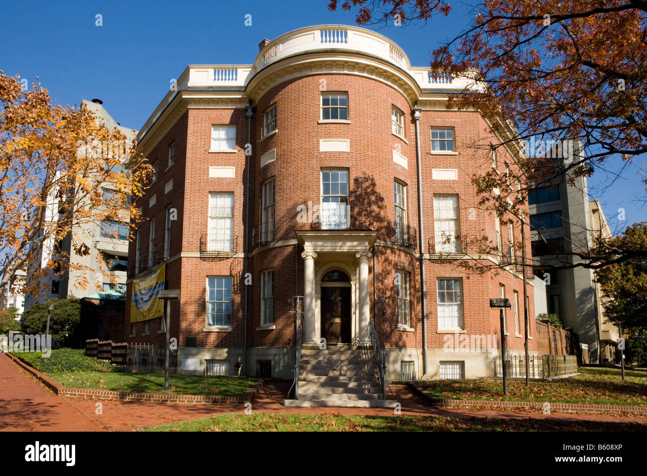 Octagon House was home to President Madison Washington D.C. - Stock Image