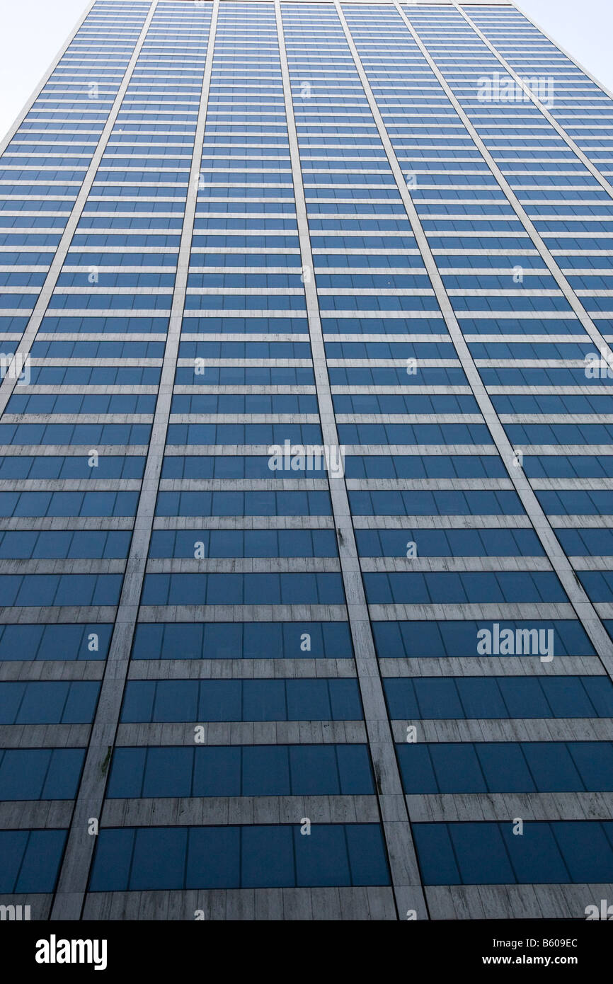 View of office windows at the Grace skyscraper building from 43rd Street in New York USA November 2008 - Stock Image