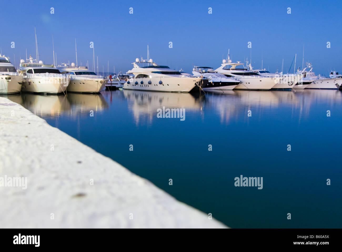 Marbella Malaga Spain Spanien harbour luxury yacht - Stock Image