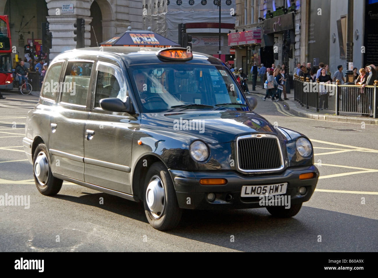 Hackney taxi cab in the city of London England - Stock Image