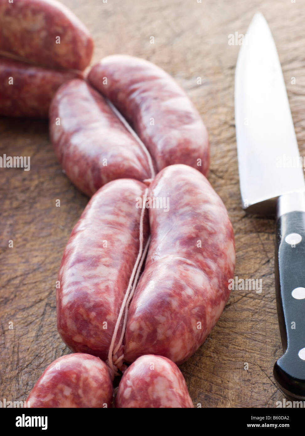 Tuscan sausage in Links Stock Photo