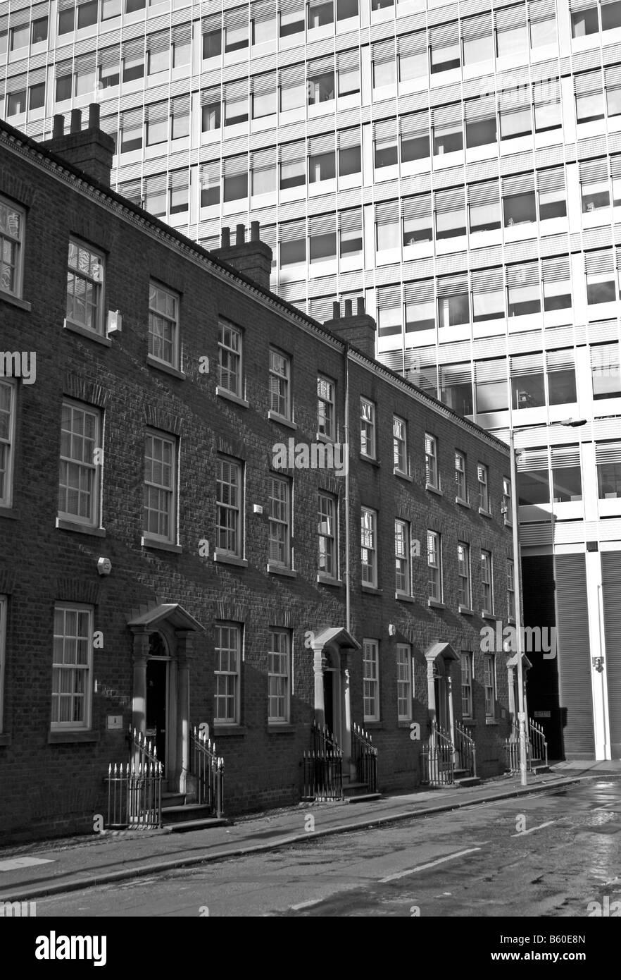 Gartside Street, Manchester city centre. Spinningfields development beyond. - Stock Image