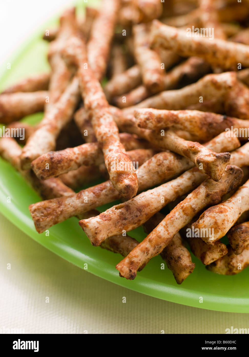 Savoury Wholemeal Snacks flavoured with Yeast Extract - Stock Image